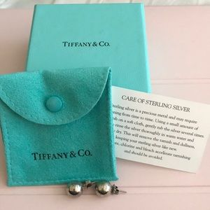 Tiffany & Co. Sterling Silver Ball Bead Earrings